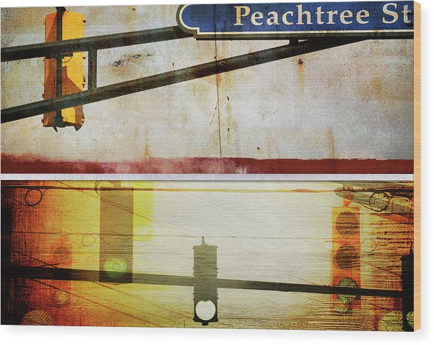 Peachtree Street - Wood Print - SEVENART STUDIO