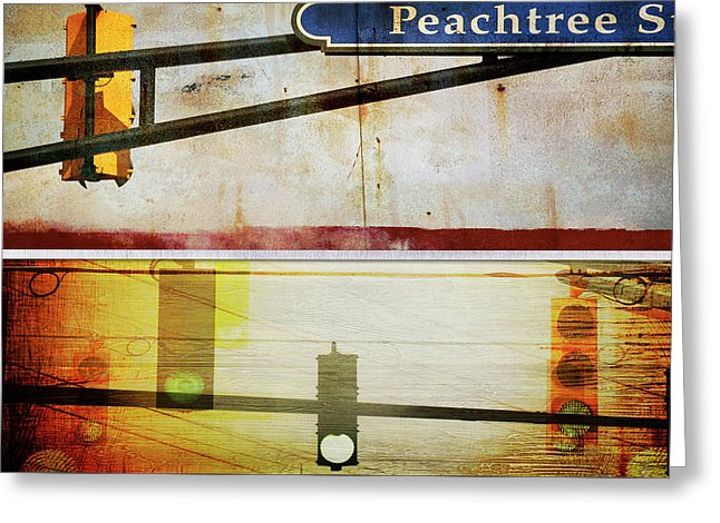 Peachtree Street - Greeting Card - SEVENART STUDIO
