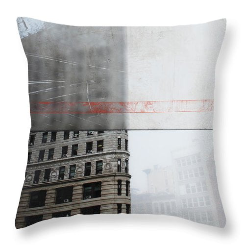 Perect Timimg Flatiron - Throw Pillow - SEVENART STUDIO
