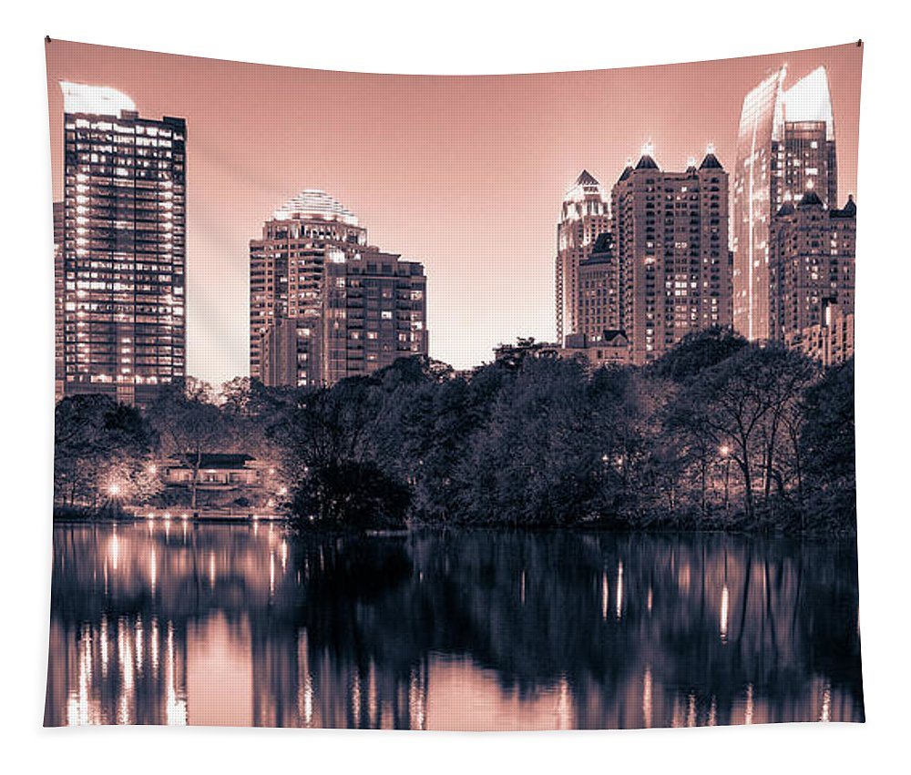 Reflecting Atlanta - Tapestry - sevenart-studio