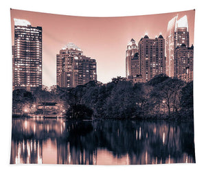 Reflecting Atlanta - Tapestry - SEVENART STUDIO