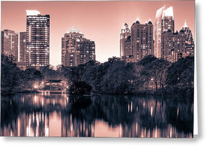 Reflecting Atlanta - Greeting Card - SEVENART STUDIO