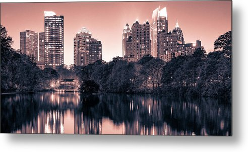 Reflecting Atlanta - Metal Print - SEVENART STUDIO