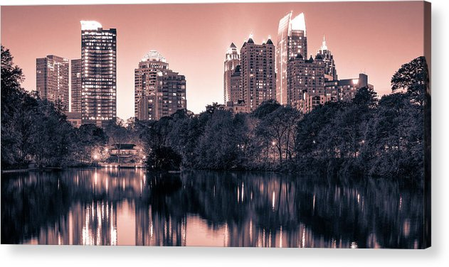 Reflecting Atlanta - Acrylic Print - SEVENART STUDIO