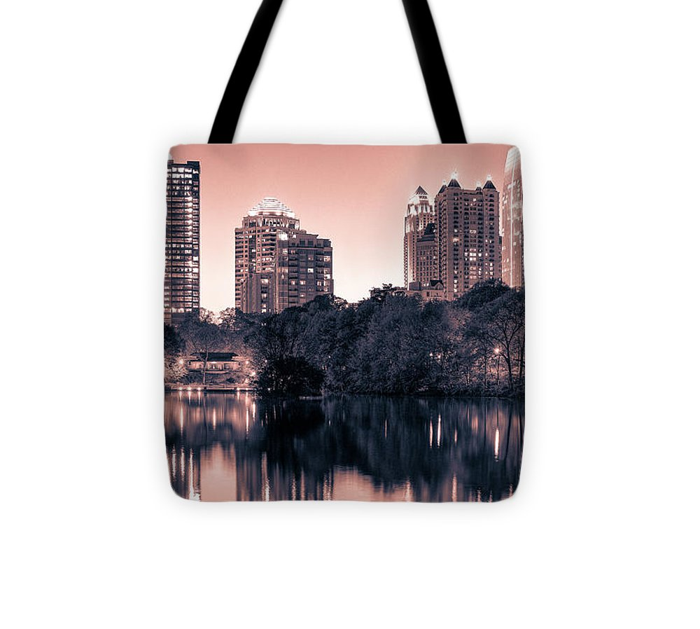 Reflecting Atlanta - Tote Bag - sevenart-studio