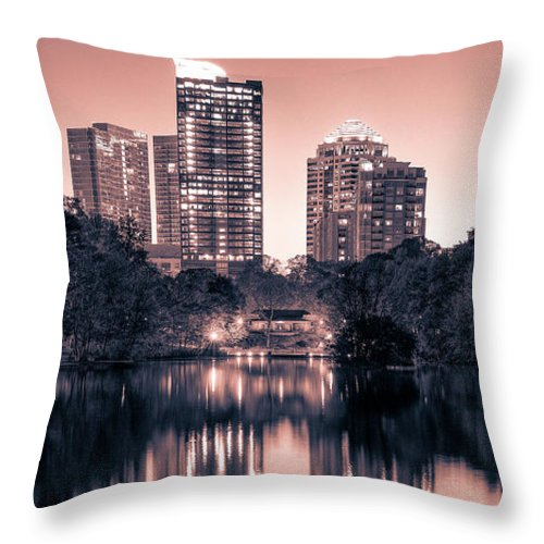 Reflecting Atlanta - Throw Pillow - sevenart-studio