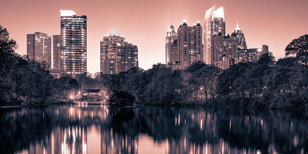 Reflecting Atlanta - Art Print - SEVENART STUDIO