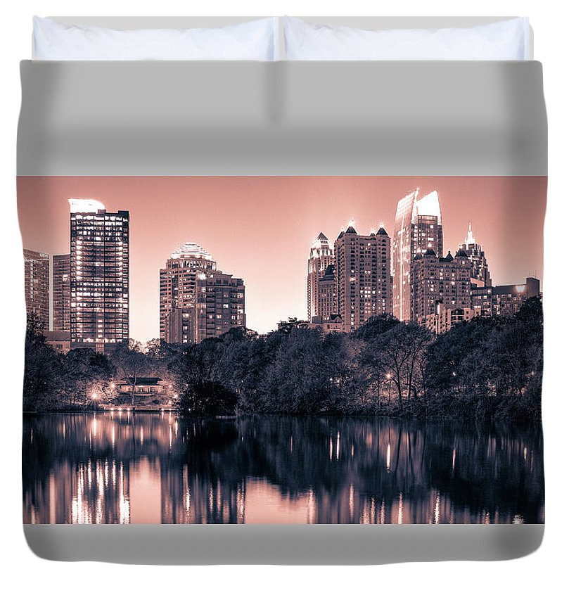 Reflecting Atlanta - Duvet Cover - SEVENART STUDIO