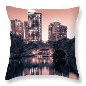 Reflecting Atlanta - Throw Pillow - SEVENART STUDIO