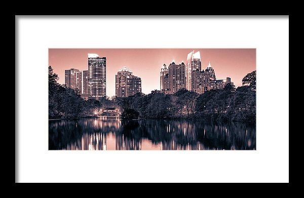 Reflecting Atlanta - Framed Print - sevenart-studio