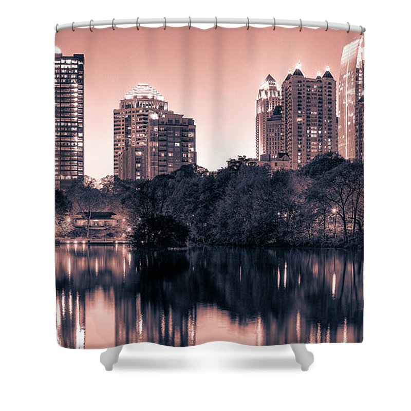 Reflecting Atlanta - Shower Curtain - SEVENART STUDIO