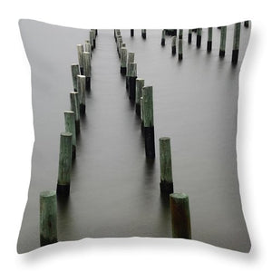Still Pier - Throw Pillow - SEVENART STUDIO