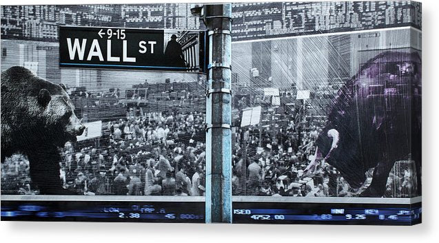 Wall Street - Canvas Print - SEVENART STUDIO