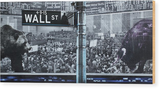 Wall Street - Wood Print - sevenart-studio