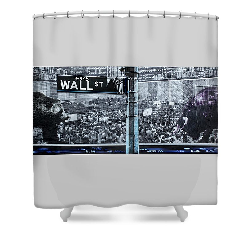 Wall Street - Shower Curtain - SEVENART STUDIO