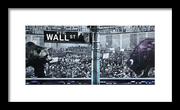 Wall Street - Framed Print - SEVENART STUDIO