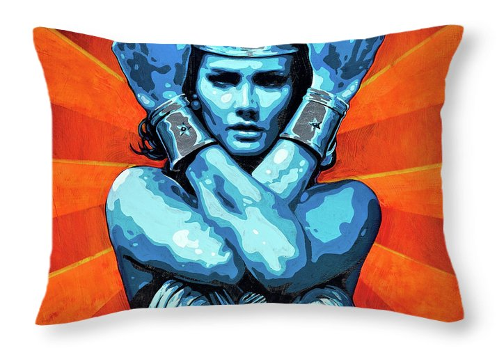 Wonder Woman I - Throw Pillow - SEVENART STUDIO