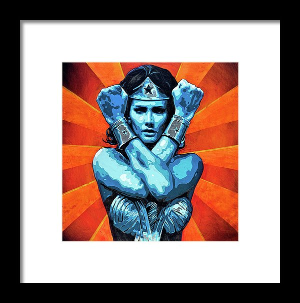 Wonder Woman I - Framed Print - SEVENART STUDIO