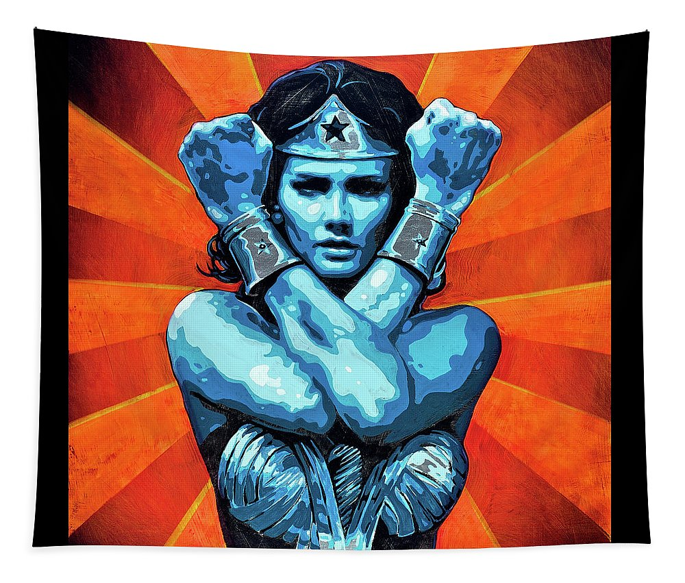 Wonder Woman I - Tapestry - SEVENART STUDIO