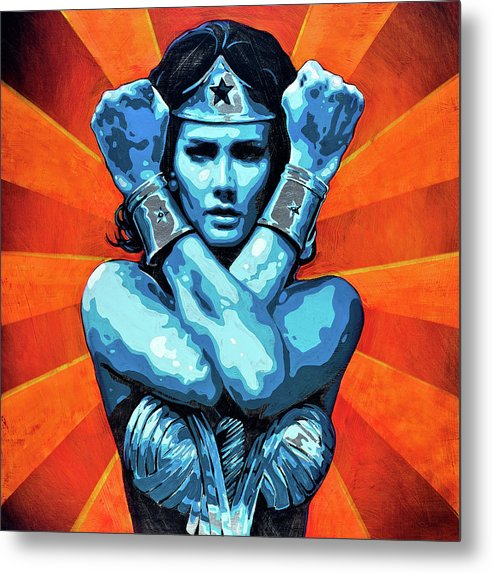 Wonder Woman I - Metal Print - SEVENART STUDIO