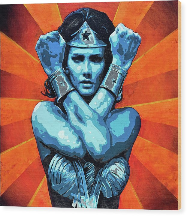 Wonder Woman I - Wood Print - SEVENART STUDIO