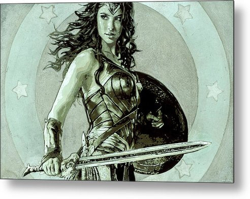 Wonder Woman - Metal Print - SEVENART STUDIO