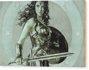 Wonder Woman - Wood Print - SEVENART STUDIO