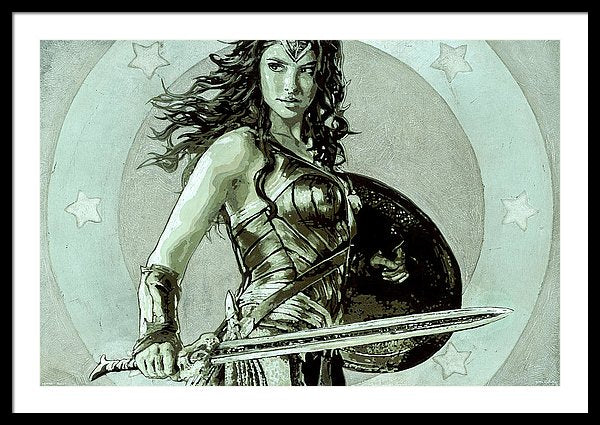 Wonder Woman - Framed Print - SEVENART STUDIO