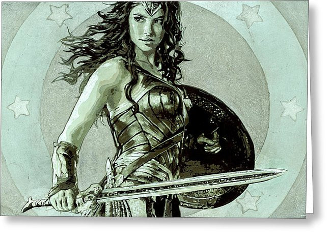 Wonder Woman - Greeting Card - SEVENART STUDIO
