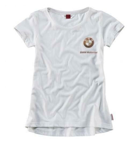 BMW GENUINE MOTORRAD LADIES LOGO T-SHIRT SIZE L