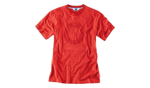BMW GENUINE MOTORRAD RED LOGO T-SHIRT SIZE M
