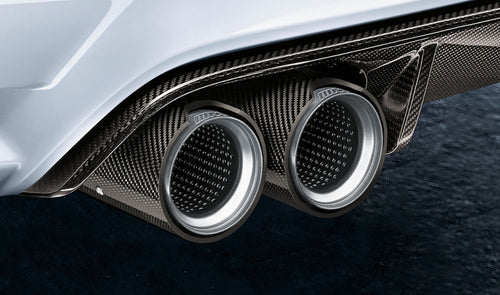 bmw m performance tailpipe trim carbon fibre