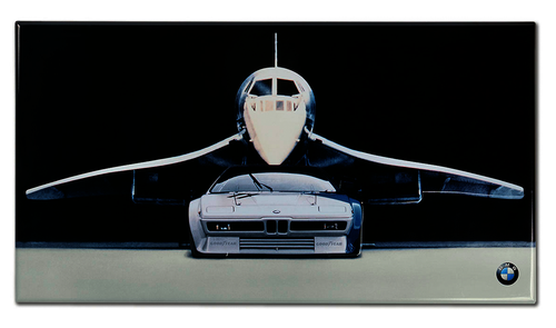 bmw metal poster car with Concorde