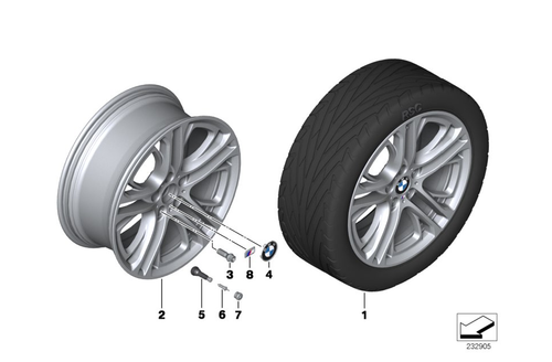 BMW GENUINE M DOUBLE SPOKE 310 1x WHEEL