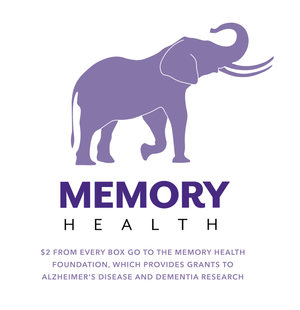 $2 from every purchase go to the Memory Health Foundation