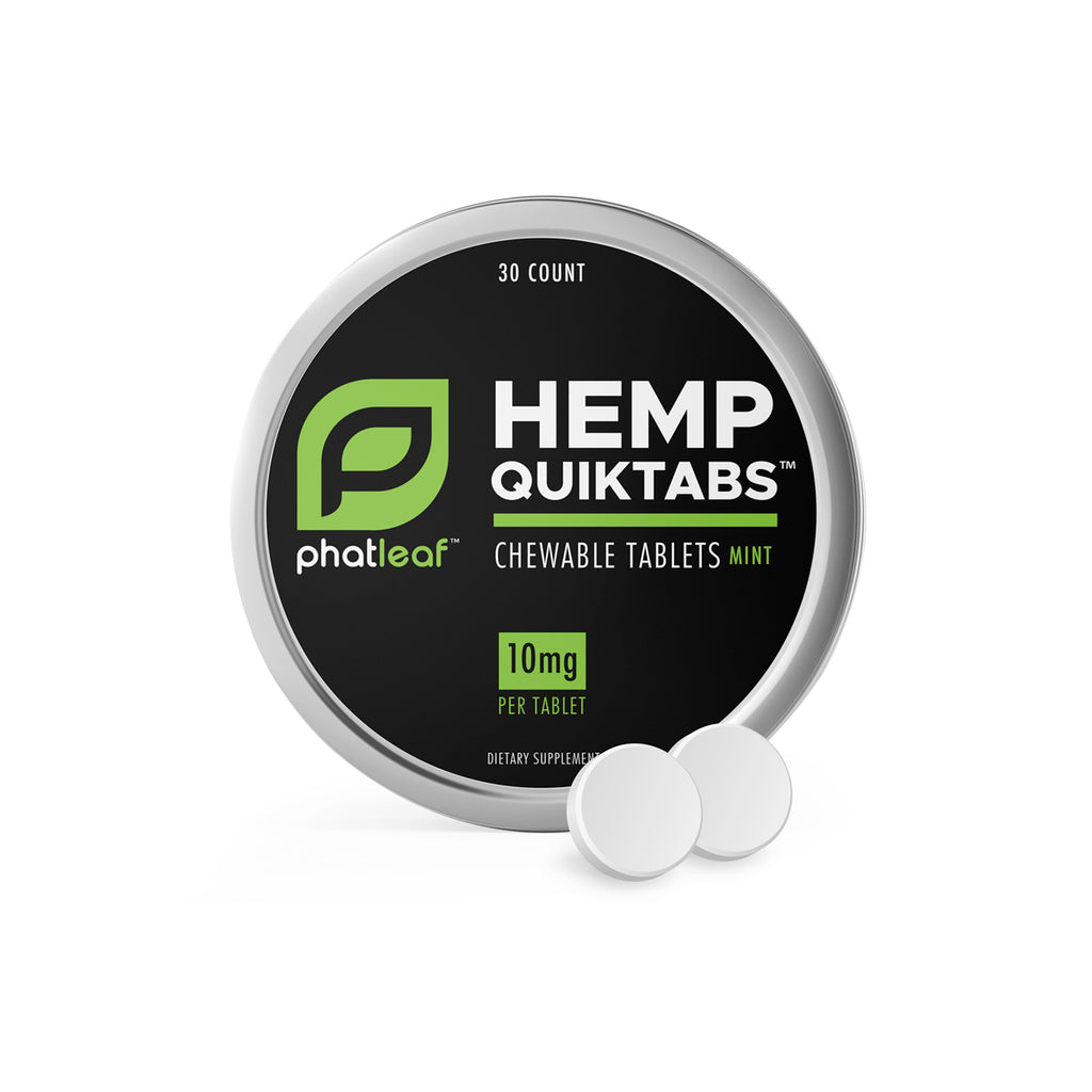 PhatLeaf™ Hemp Quiktabs Chewable Mints 10mg