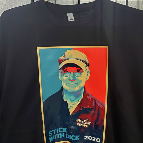 Arc + Flame T-Shirt: Stick with Dick 2020