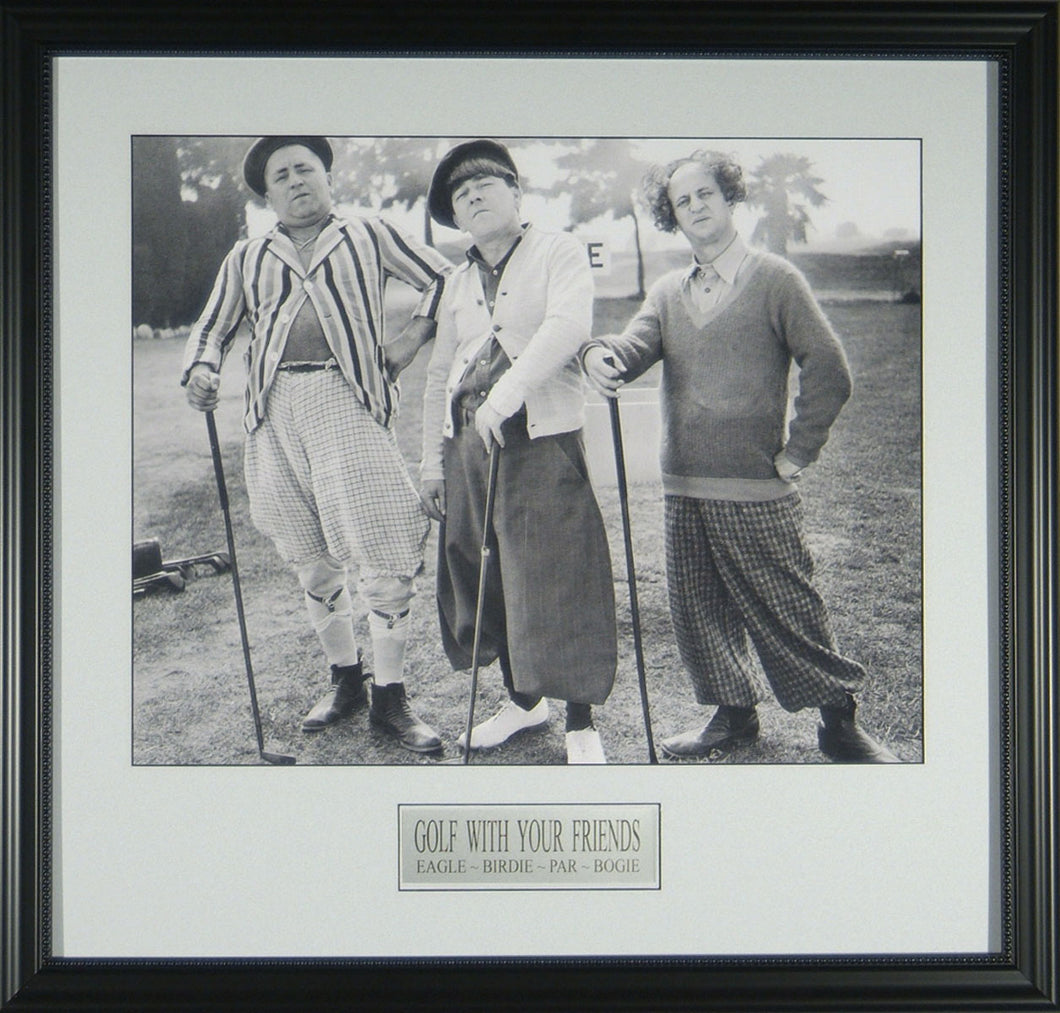 Three Stooges Golfing with Friends