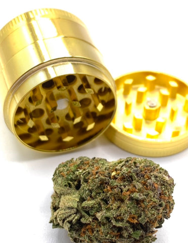 Three part metal gold grinder