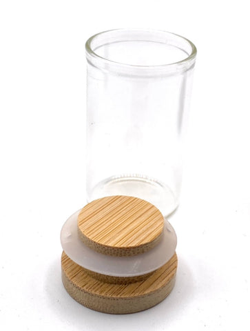 Medium air tight glass vile jar