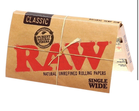 Raw single wide classic rolling papers