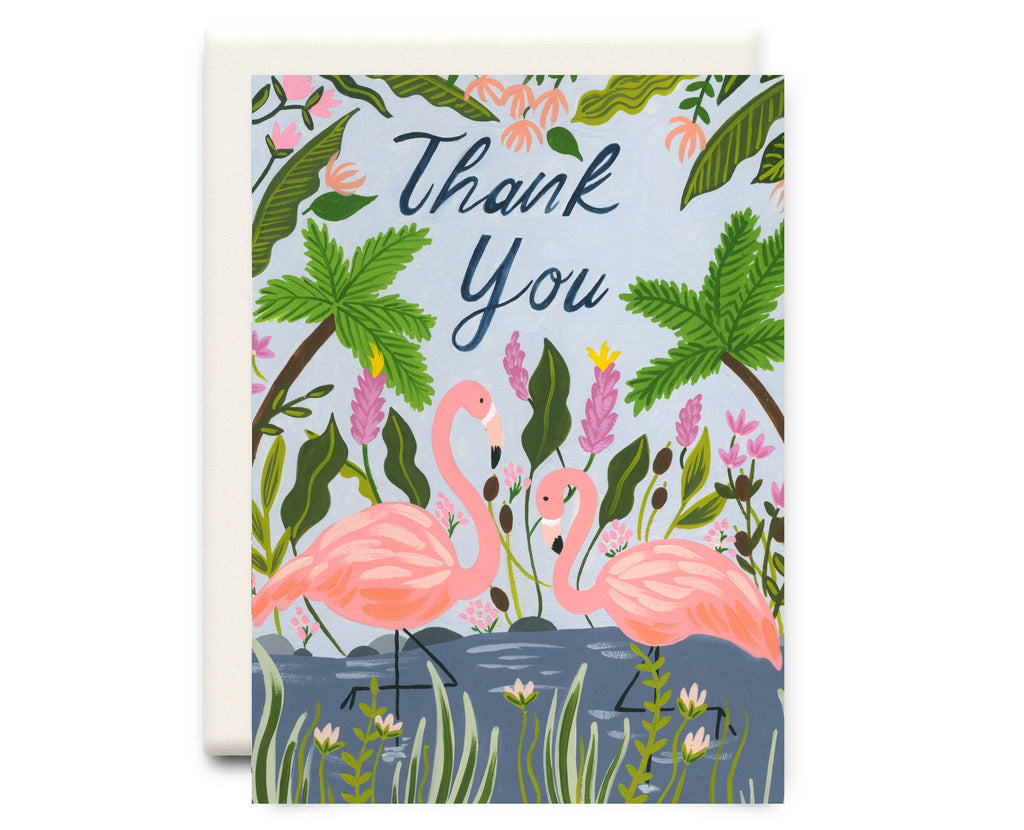 Inkwell Cards - Flamingo Thank You | Thank You Greeting Card