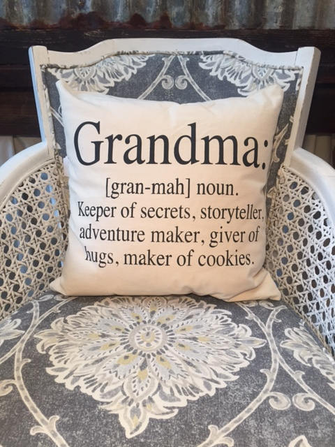 "Grandma definition pillow 18"" decorator pillow"