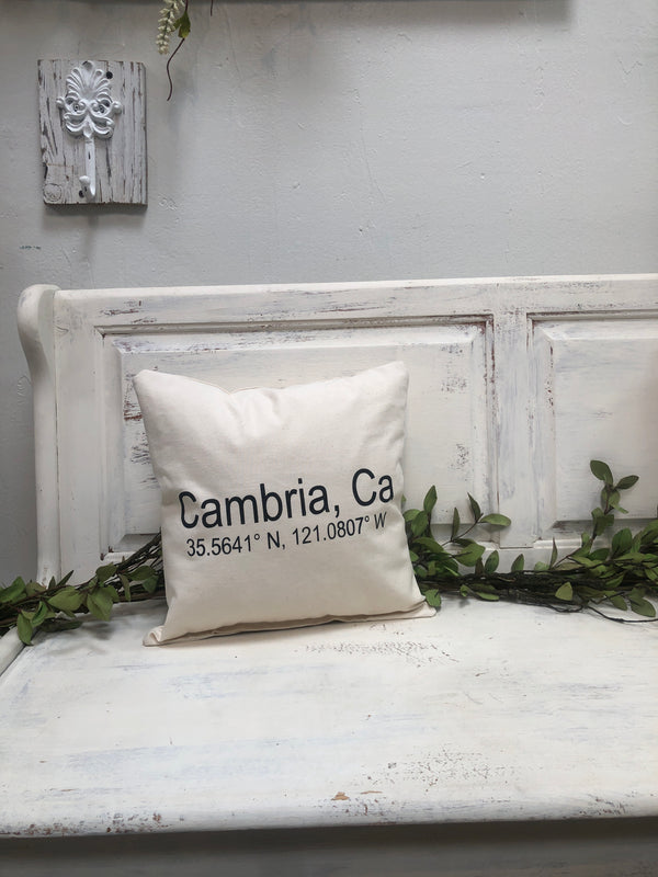 "Cambria pillow 14"" home decor, gift quote pillow"