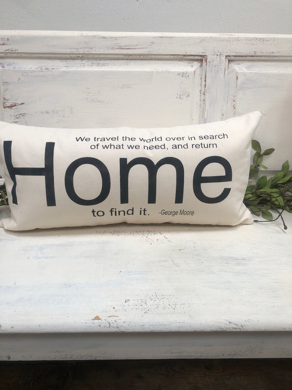 Home pillow home decor, gift quote pillow