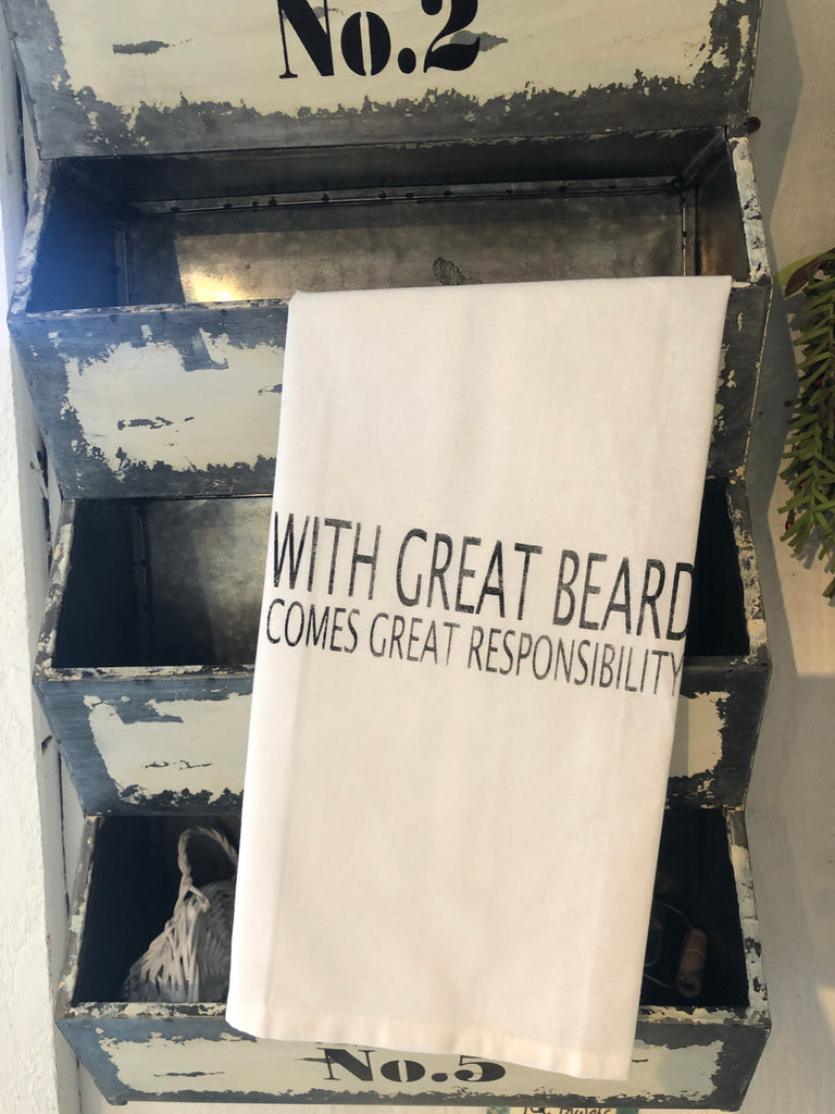 Great beard tea towel