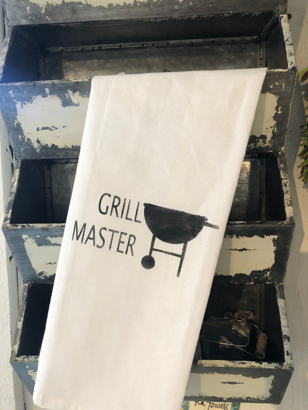 Grill master  tea towel