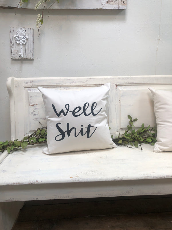 Well shit 18 pillow, funny pillow