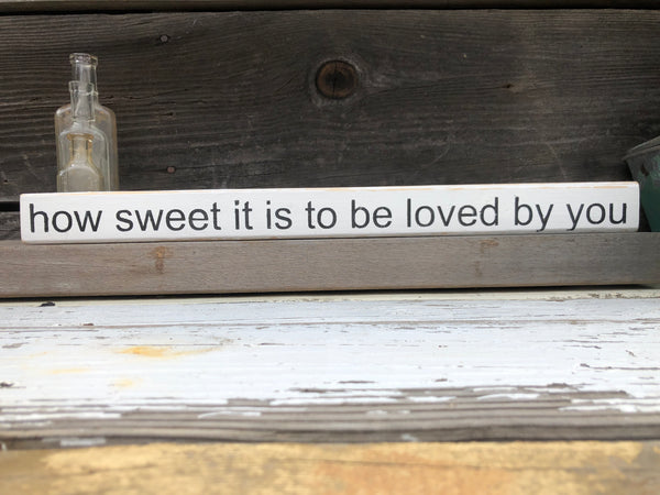How sweet wood sign