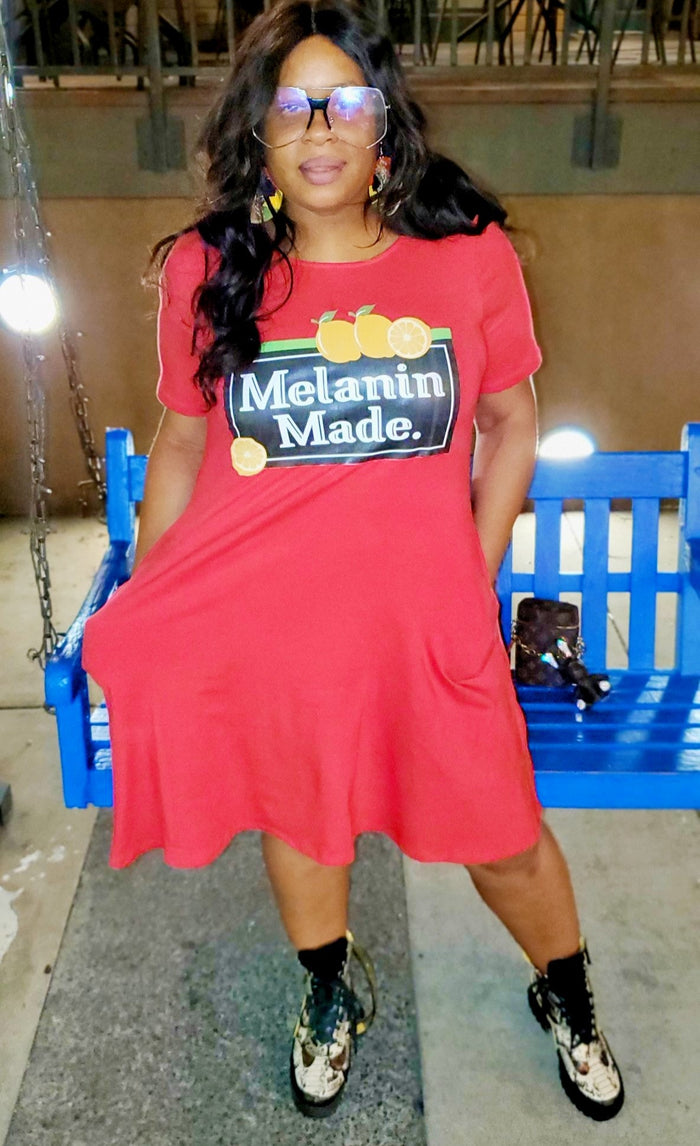 Customized Melanin Made Swing Dress with Pockets